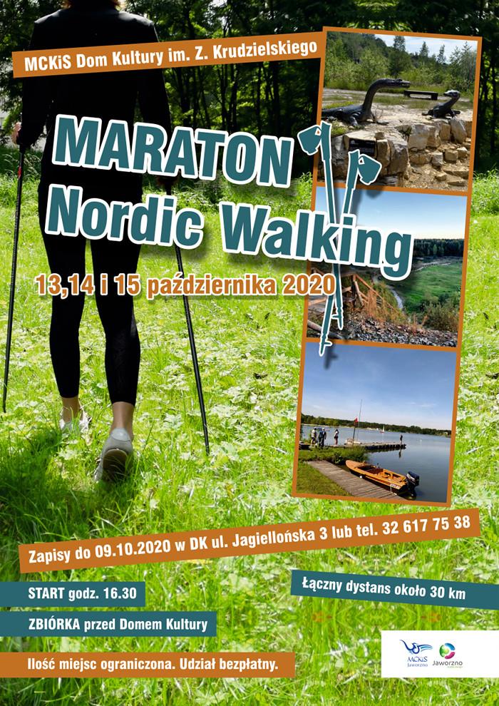 Plakat maraton nordic walking