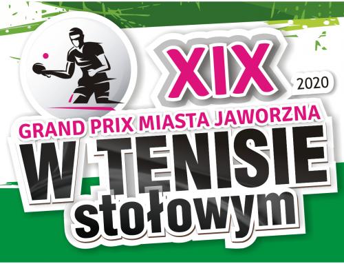 Zapraszamy do udziału XIX Grand Prix Miasta Jaworzna w Tenisie Stołowym